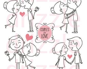 couple clipart, couple stickers, planner stickers, kawaii stickers, kawaii, love clipart, digital stickers, digital clipart.