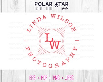 Modern Label - Premade Logo and Watermark Customized For Photography / Any Business - Vector Logo Design (030)