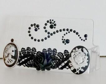 Black Goth Theme Business Card Holder