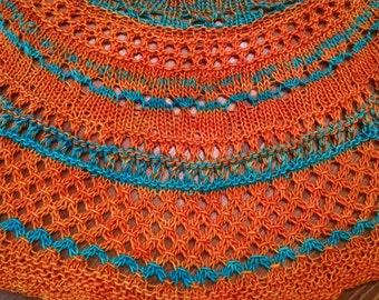 Handknit Madelinetosh Light scarf shawl merino wool