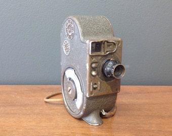 Antique 8mm Movie Camera - Bell & Howell Filmo Double Eight Companion Cine Camera