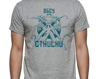 Cthulhu - T-shirt - Inspired -  H. P. Lovecraft - Screen Printed - A must for all Lovecraft Fans