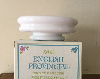 Vintage Avon ENGLISH PROVINCIAL Bird of Paradise Soap & Soap Dish