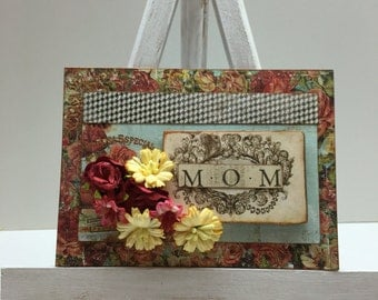 Card for mom and  matching gift bag