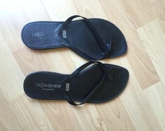 Yves Saint Laurent Leather Sandals