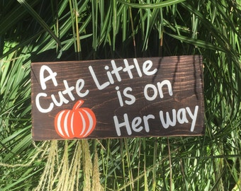 Pumpkin Sign for baby / baby shower