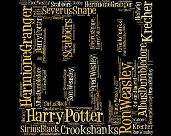 Digital Harry Potter Themed Print