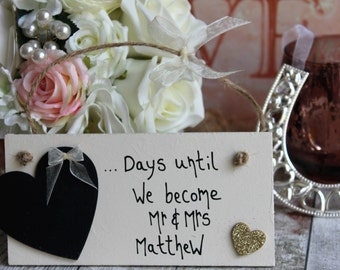 1 Year To Go Until Wedding Gift : Wedding Gifts & Mementos Etsy UK