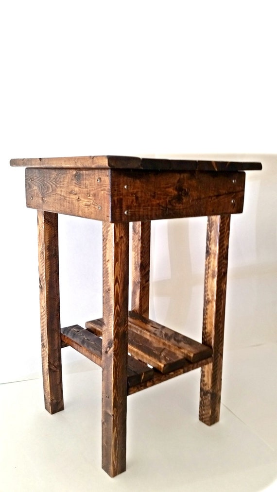 Rustic Night Stand/Rustic End Table/Bed Side Table/Rustic