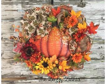 Fall Pumkpin Wreath