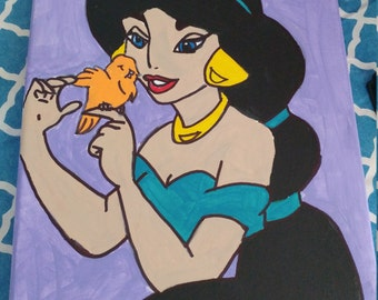 Princess Jasmine Canvas Art