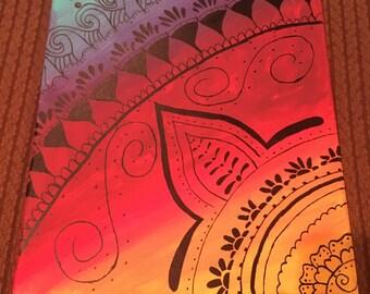 Sunset henna