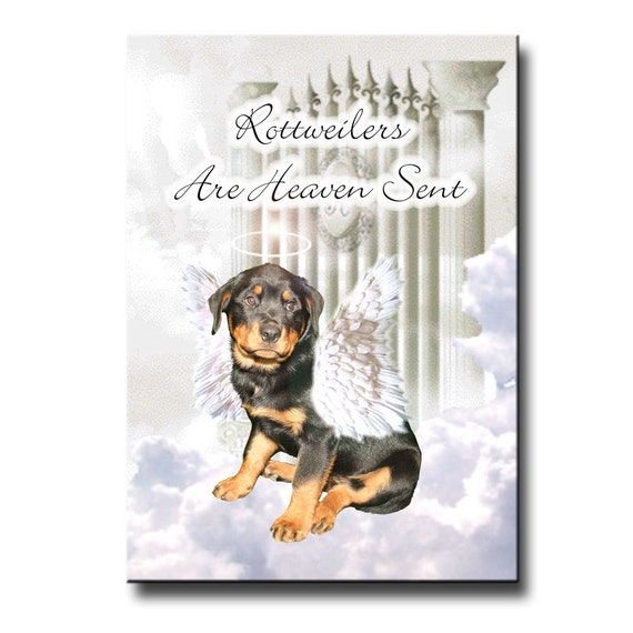 Rottweiler Heaven Sent Fridge Magnet No 1