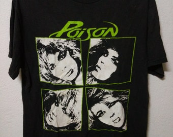 Vintage Poison Rock Shirt  20 Years of Rock Tour Poison Tee