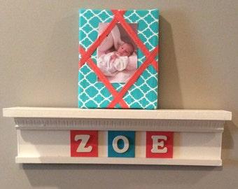 "22"" personalized  nursery or kids room shelf"
