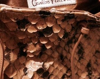 Carlos Falchi Python Collection handbag