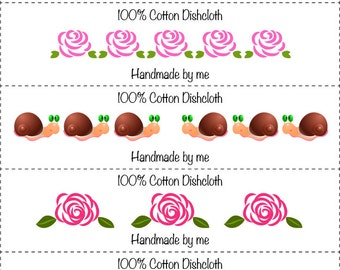 Nature Washcloth/Dishcloth Labels-PDF/JPG only
