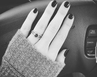 Blue Diamond Engagement/Wedding Ring