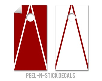 Alabama Colors Cornhole Board Decals