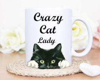 Crazy Cat Lady - Cat Mug - Cats - Cat -Crazy Cat Lady - Personalized Cat Mug - Cat Lover - Gift for Cat Lover - Cat Coffee Mug