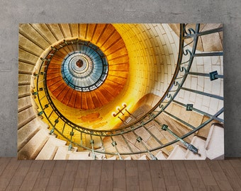 The stairs of the lighthouse of Eckmuhl, canvas printed 80 x 120 cm, numbered 10 out of 30