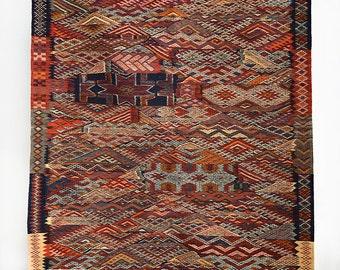 Arabian Charm - Moroccan Berber Zanafi Double Face Carpet  - Origin Tazenakht, Morocco.