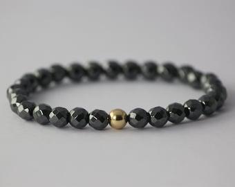 VT Etenity Faceted Hematite Bracelet