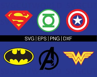 Super Hero Svg, Captain America Svg, Superman Svg, Avengers Svg, use with Cricut & Silhouette