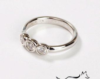 Chubbie 18ct Gold & Diamond 3 Stone Engagement Ring