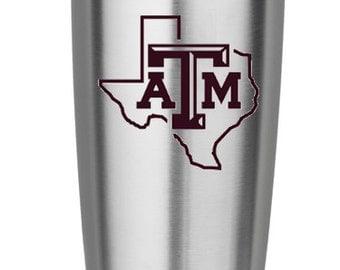 Texas A&M - Texas Aggies - Texas ATM Decal - Texas AM Yeti