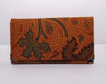 Eternal Batik Clutch Wallet, Handmade Batik Wallet, Long Wallet Clutch,  Gift idea for women