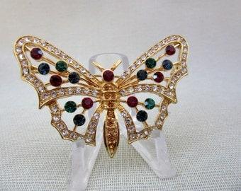 Eisenberg Ice Butterfly Rhinestone Pin