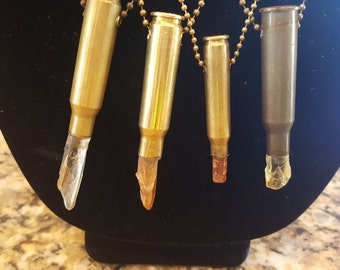 Large Crystal Bullet Necklace