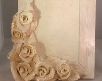 """Floral frame """"IVORY ROSE"""""""