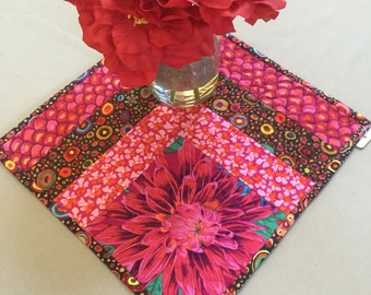 Red Black Quilted Table Mat Kaffe Fasset