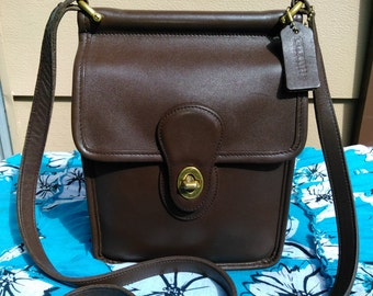 Vintage Coach Murphy Willis Brown Leather Crossbody Satchel Purse #9930
