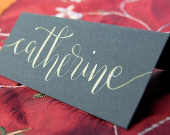 Wedding Place Cards - Custom hand lettered modern calligraphy