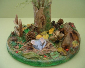 Paper Clay  Woodland Scene
