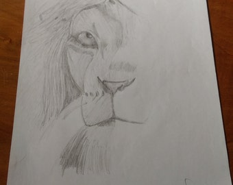 zion lion drawing by Diego Francis