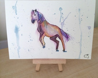Horse - Original Watercolour and Ink drawing