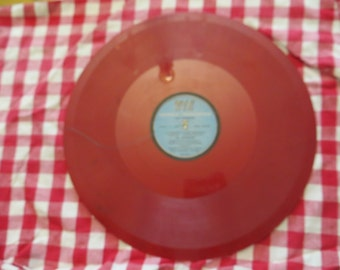 "Al Jolsen Electrical Transcription 16"" colored vinyl record"