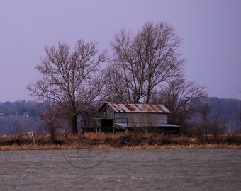 Old Barn On A Lake 8x10 Print