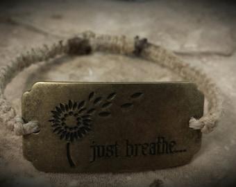 just breath adjustable sliding knot bracelet