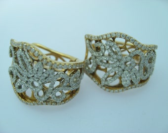Victoria Rose Gold with Diamond Pave Earrings