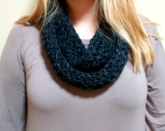 Charcoal Gray Infinity Scarf