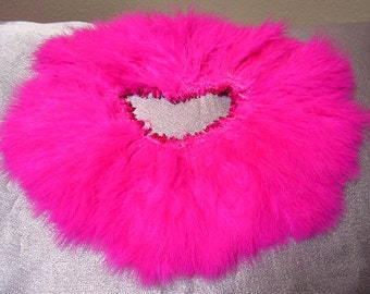 Pink marabou feathers , bulk, lot, wholesale, hair extension, golden yellow feather