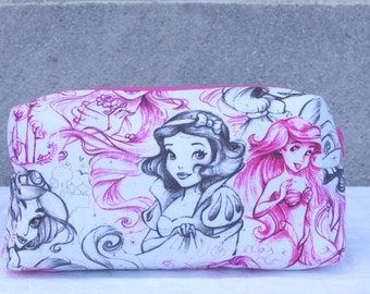 Medium Princess sketch cosmetics bag