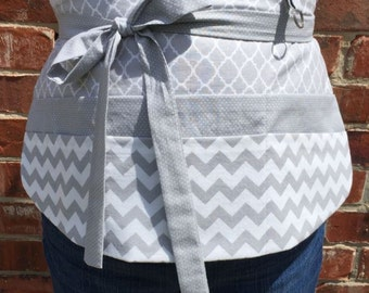 Chevron and Gray Apron