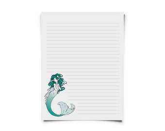 Mermaid Printable Stationary Set for Letters & Snail Mail