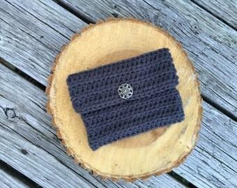 Handmade crochet womens clutch